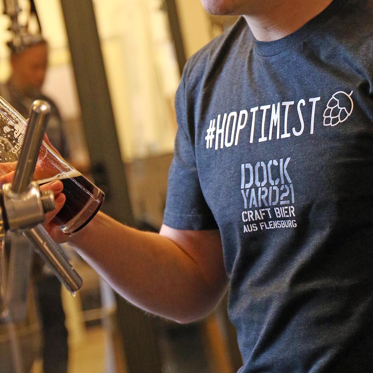 "T-Shirt Dockyard 21 ""#Hoptimist"""